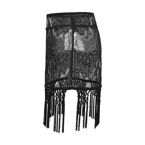 Häkelspitze Minirock in transparentem Design
