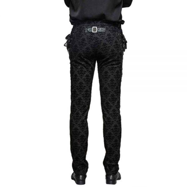 Viktorianische schwarze Hose mit Schnürungen