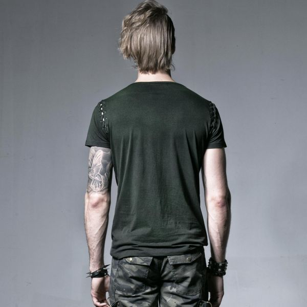 T-Shirt mit Schnürungen - Demon Skull