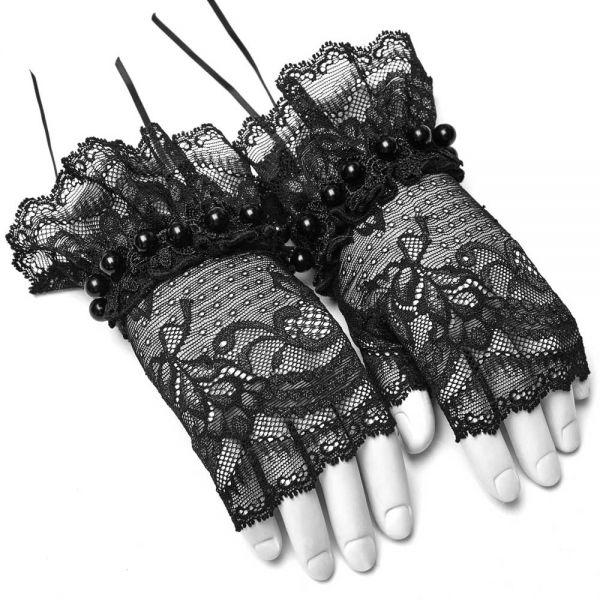 Viktorianische Handschuhe aus Spitze im Lolita Style