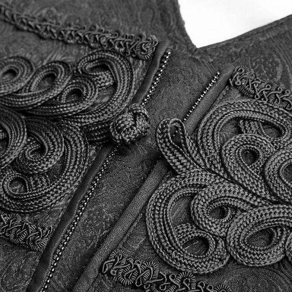 Viktorianische Hose mit Brokatmuster und Kummerbund