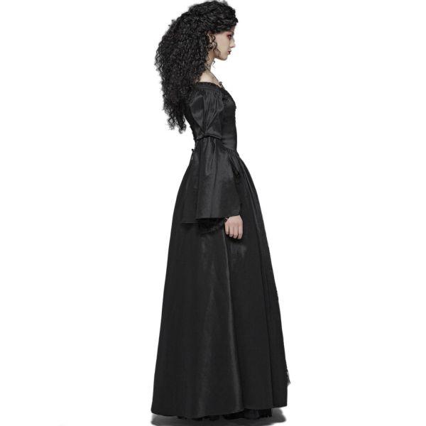 Viktorianisches Off-Shoulder Ballkleid mit Spitze